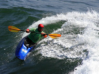 Kayak surfer